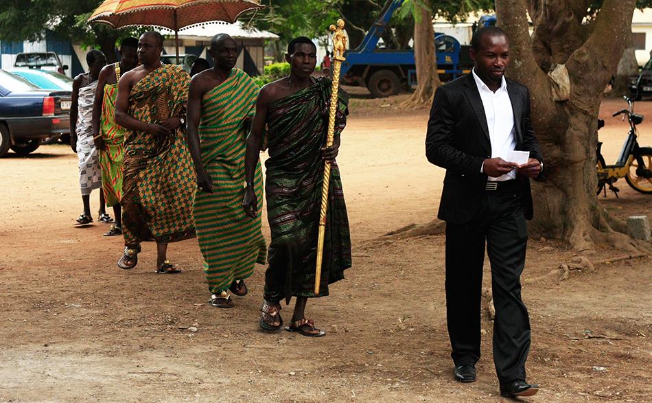 Williams Atweri und der Nana (König der Region)