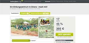 Besucht uns auf betterplace.org